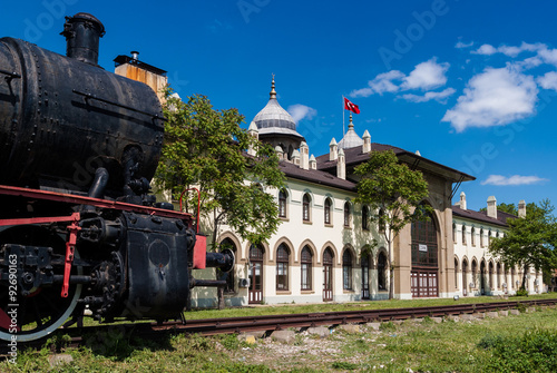 Valokuvatapetti Historic railway station in Karaagac, Edirne, Turkey