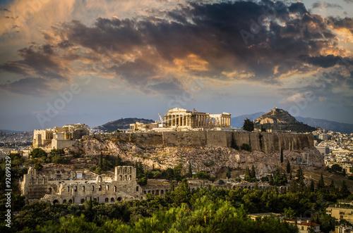Printed kitchen splashbacks Athens Parthenon temple on Athenian Acropolis, Athens, Greece