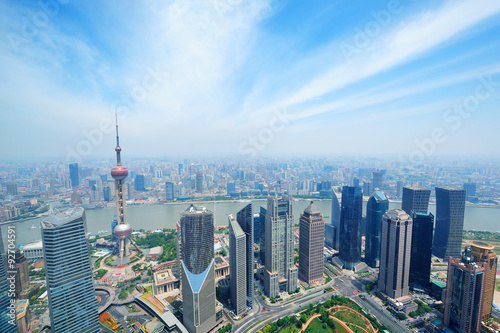 Foto op Aluminium Shanghai Shanghai aerial