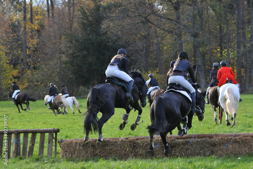 La pose en embrasure Equitation Fuchsjagd