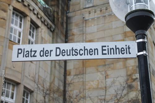 Fotografie, Obraz  Der Platz der Deutschen Einheit