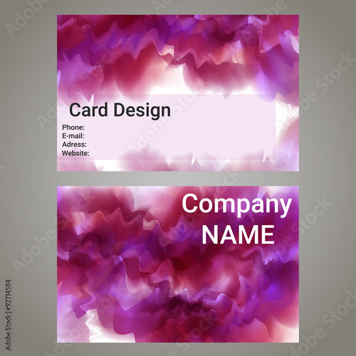Fototapeta Vector design template with pink abstract cloud ink. obraz na płótnie