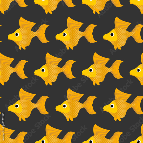 wzor-ze-zlotymi-rybkami-na-czarnym-tle
