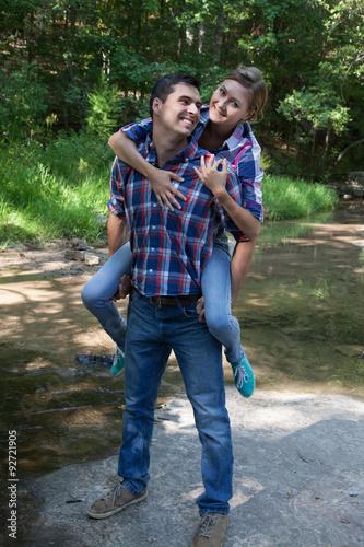Fotografie, Obraz  Playful couple outdoors