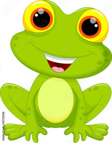 Photo Cute frog cartoon