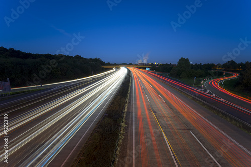 Foto op Aluminium Nacht snelweg Highway A2 in Hannover, Germany at night
