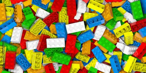 Plastic building blocks Canvas Print
