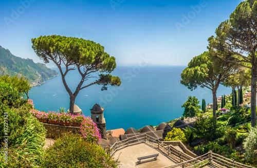 Spoed Foto op Canvas Grijze traf. Amalfi Coast, Campania, Italy