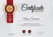 Certificate Of Achievement Frame Design Template
