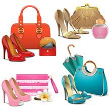 Vector Fashion Accessories Set