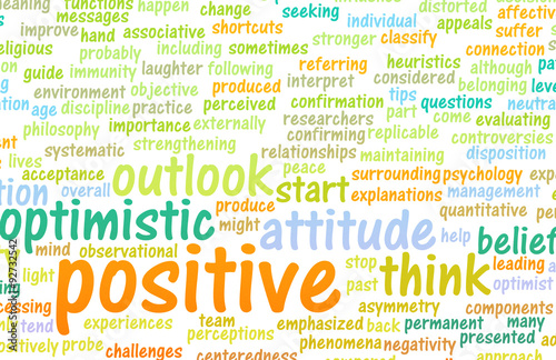 Think or Stay Positive Fototapet