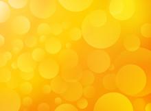 Yellow Orange Background With Bokeh