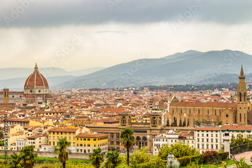 Wall Murals Florence Panoramic view from Piazzale Michelangelo in Florence - Italy