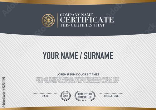 Fotografía  Vector certificate template.