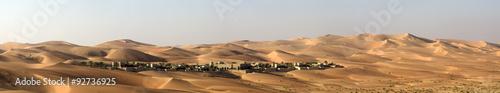 In de dag Zandwoestijn Abu Dhabi Desert dunes