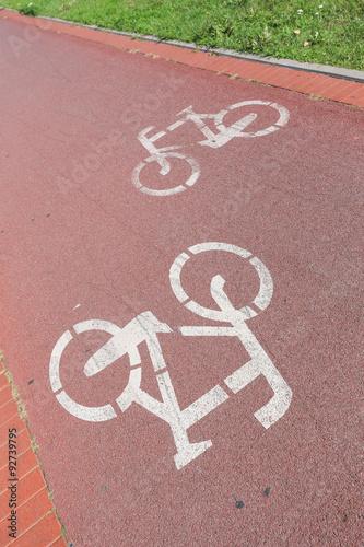 Fotografie, Obraz  droga rowerowa - ścieżka dla rowerów