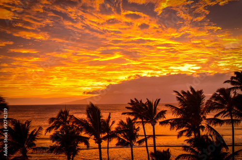 plakat Lanai Sunset