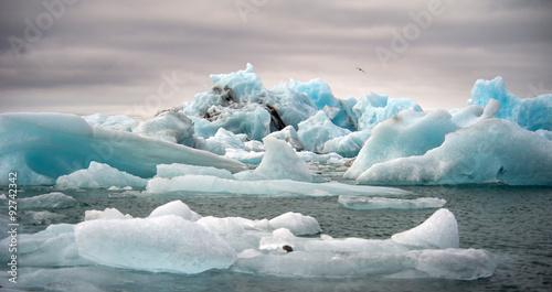 Poster Glaciers Jokulsarlon, glacer lagoon, Iceland