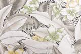 Tkanina z kwiatu wzoru teksturą i tłem. - 92742520