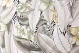 Tkanina z kwiatu wzoru teksturą i tłem. - 92743388
