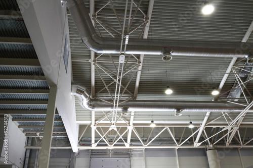 Staande foto Industrial geb. Roof of a building industry