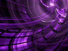 Abstract Purple Computer-generated Image In Technology Style On