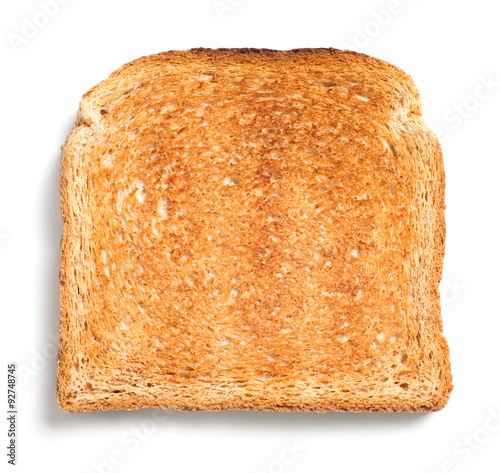 Toast isolated on white background Wallpaper Mural