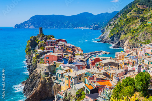 Lanscape of Vernazza in Cinque Terre, Italy Wallpaper Mural