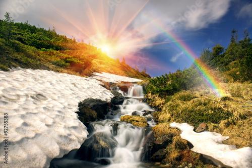 Valokuva  waterfall in Ukraine - on the Prut River