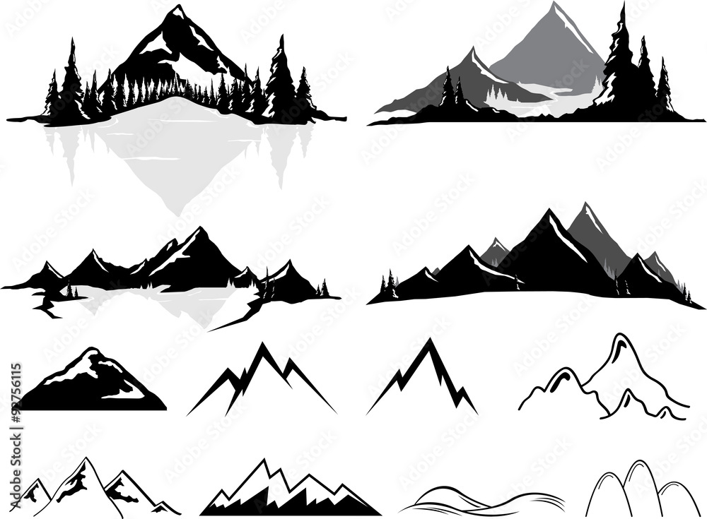 Fototapeta Mountains and Hills, Realistic or Stylized