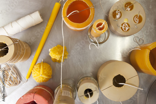 Making beeswax candles Wallpaper Mural