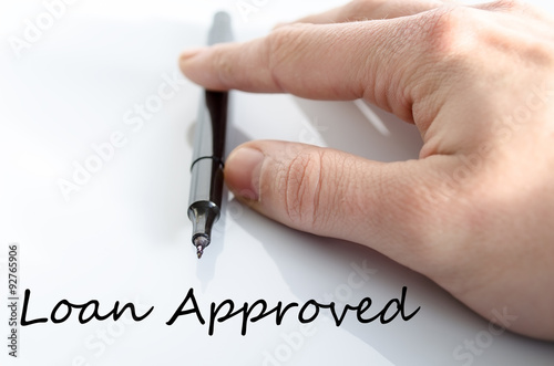 Fotografia, Obraz  Loan approved text concept
