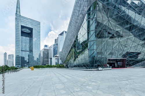 Fototapety, obrazy: modern square and skyscrapers