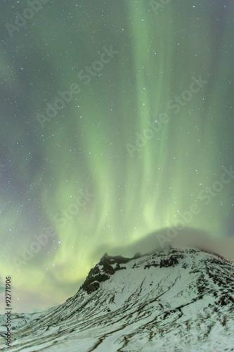 Foto auf Gartenposter Wasser The Northern Light Aurora borealis