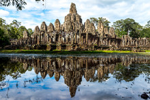 Bayon Temple(Angkor Thom) Siem Reap Cambodia Sep 2015.