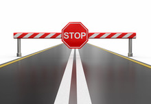 Closed Road With Stop Sign (cl...
