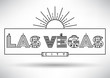 Las Vegas City Typography Design with Building Letters.
