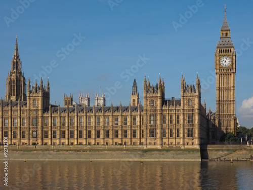 Poster Londres Houses of Parliament in London