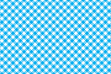 Blue Tablecloth Diagonal Background Seamless Pattern