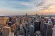 New York City skyline.