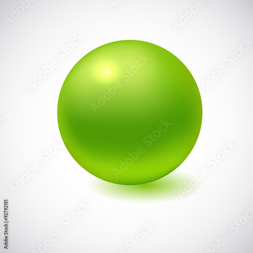 Fotografía  3D sphere isolated on white.