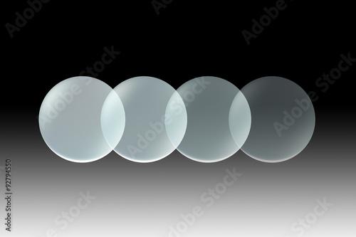Fotografie, Obraz  glass lens opacity black