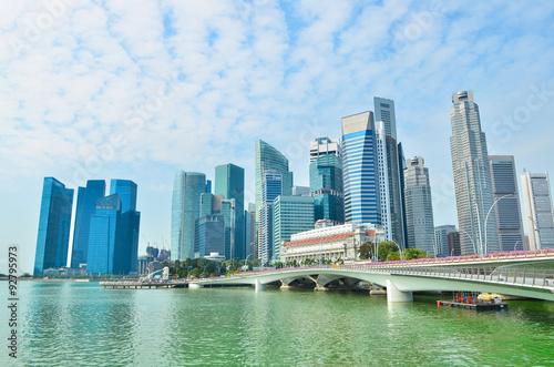 Staande foto Asia land Skyline of Singapore building