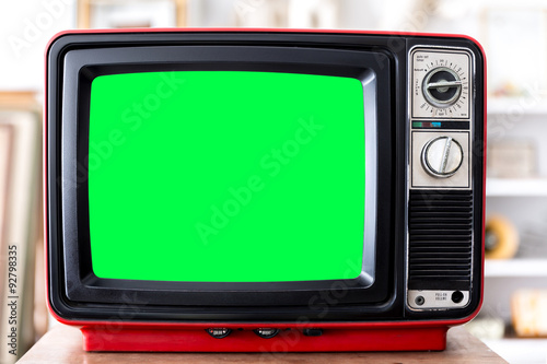Vintage Red Television Tapéta, Fotótapéta