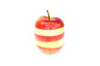 Apple made of different slices. Isolated