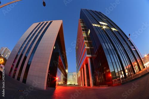 Obraz Nocny widok miasta Lublin - fototapety do salonu