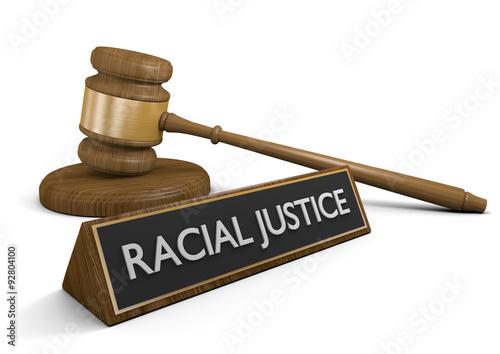 Fényképezés  Court legal concept for racial justice laws and civil rights