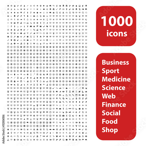 Fotografía  1000 icons set