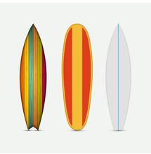 Vector Modern Colorful Surfboard Set