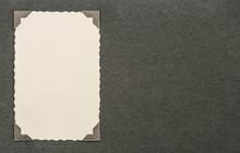 Vintage Photo Card With Corner. Album Page. Paper Texture